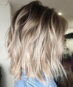 20 Blonde Balayage Ideas for Short Straight Hair - Hair - Hair Styles Blonde Ombre Short Hair, Blonde Hair With Roots, Blonde Balayage Bob, Brown To Blonde Ombre, Ombre Hair Color, Hair Color Balayage, Brown Hair, Hair Colors, Short Hair Colour
