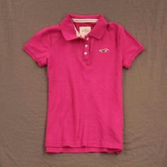 Pink Hollister Polo -A lighter/softer pink than the picture shows -Good condition  -3 button  -fitted Hollister Tops Blouses