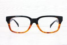 Retro Two Toned Wayfarer Eye Glasses Custom by Antiqueelse on Etsy