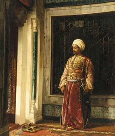The Turkish Guard, 1880 by Stanislaw Chlebowski, (Polish, Arabian Art, Early Middle Ages, Arabian Nights, Ottoman Empire, North Africa, Andalusia, Islamic Art, Les Oeuvres, Art History
