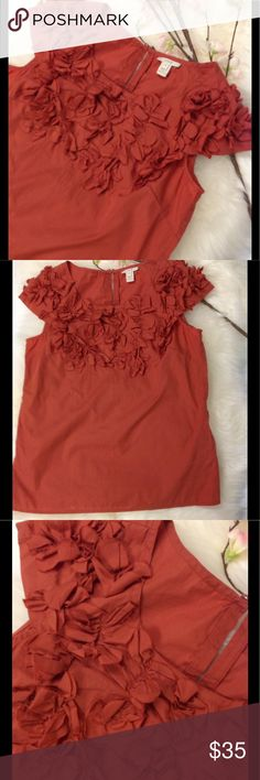 Cotton Papillon Blouse In a beautiful shade of cinnamon you can see why I love this top. Have this blouse in three colors. Gently loved and in perfect condition. Please see description for the white or lavender. Reasonable offers considered and closet discount on bundles.❌Trades ❌ Low Ball Offers J. Crew Tops Blouses