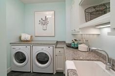 House of Turquoise: Martha O'Hara Interiors | laundry room