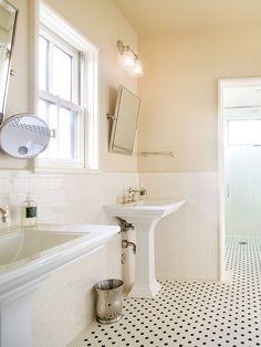 10 Best Vintage Inspired Bathroom Images Tile Bathroom