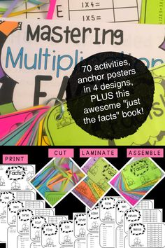Help your students master their facts by providing ample practice. 70 activities, posters for your classroom and a culminating activity- all in one great resource! Instant download on TpT!