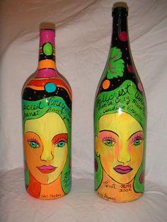 Hallcrest Wine Bottles by Valri Peyser
