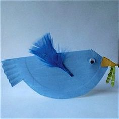 Paper Plate Bluebird Craft