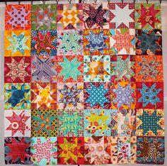 kelbysews: Starry-Eyed Quilt: Quilt Festival de Blogger