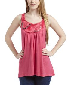 Look at this #zulilyfind! Fuchsia Embellished Tank by Simply Irresistible #zulilyfinds