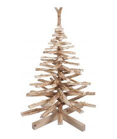 Houten kerstboom OntHout van hazelaar takken