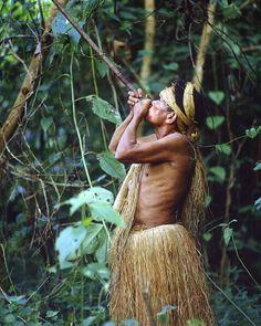 Yagua tribesman and blowgun | Peruvian Amazon