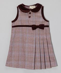Take a look at this Purple Plaid Collar Shift Dress - Infant & Toddler by P'tite Môm on #zulily today!