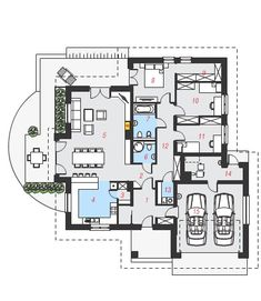 Projekat prizemne kuće s garažom – Archon 8 Interior Design Tips, Home Interior, Interior And Exterior, Building Design, Building A House, Grand Homes, Diy Home Decor On A Budget, Home Projects, Planer
