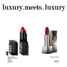 Sonia Kashuk Satin Luxe Lipcolor SPF 16 vs. Burberry Lip Cover Soft Satin Lipstick
