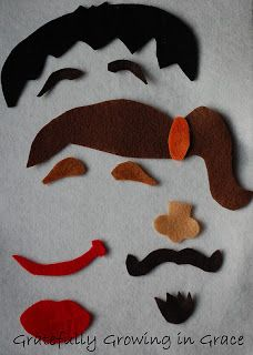 Gratefully Growing in Grace: Home made felt faces