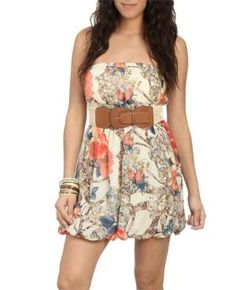 Chiffon BubbleTube Dress - Teen Clothing by Wet Seal $18.99