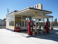 Restored 1934 Gas Station This is a restored Richfield Gas Station in Coalinga, Ca. It is owned by a local museum.