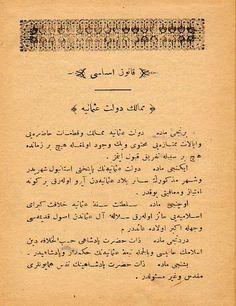 Kanuni Esasinin ilk sayfası