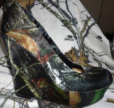 New Satin Breakup Camo Heels by CowboyTakeMeAway on Etsy, $65.00