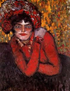 Pierreuse with her hand on her shoulder - Pablo Picasso