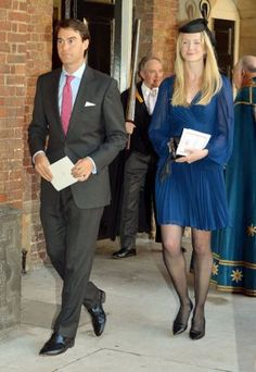 Prince George godfather William van Cutsem with his wife Rosie.jpg