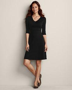 3/4-sleeve Balance Dress   Eddie Bauer