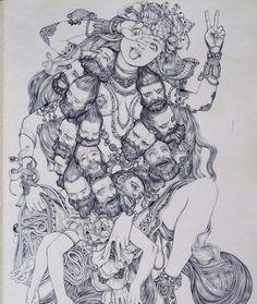 daveyboygoliath: Kali by James Jean / Embodied <3
