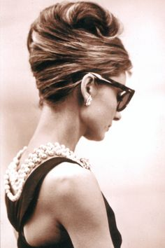Image result for audrey hepburn updo breakfast at tiffany's