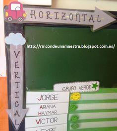 Rincón de una maestra: Conceptos horizontal y vertical
