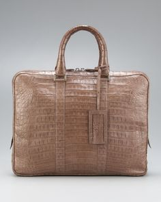 59950ad71505 SGONZALEZtaupecrocodilething Duffel Bag, Human Hair Wigs, Bergdorf Goodman,  Briefcase, Crocodile, Evening