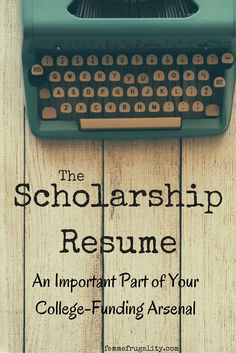 You know you should apply for scholarships to offset your college expenses, but where do you find them? Get some help with a scholarship resume. Grants For College, Financial Aid For College, College Planning, Online College, College Hacks, Scholarships For College, Education College, College Students, Higher Education