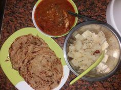 Kappa, wheat porotta n fish curry