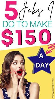 Want to make money from home or make money online? Make $150 per day with these fantastic side hustle ideas! Learn more stay at home mom jobs, side hustle ideas extra cash, side hustle ideas for moms! Make extra money from home fast using our tips. Make Money Fast Online, Earn Money From Home, Make Money Blogging, Money Tips, Money Saving Tips, Way To Make Money, Earn Extra Cash, Making Extra Cash, Extra Money