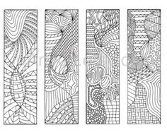 Bookmarks to color, Zentangle® Inspired Zendoodle Art, Printable Coloring, Digital Download, Sheet 5    Bookmarks to pirnt and color. This A4 sheet has 4 bookmarks to color in. Simply print these onto paper or card and grab your favorite colored pencils/sharpies/crayons/paints, whatever you like!    These would make lovely gifts, and are great fun for adults and children alike. Keep the kids busy, or keep them for yourself! No fighting over these though as you can print them as...