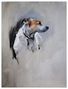 Dede Gold (nee Walsh) Irish Artist Painting in Oils and Drawings in Charcoal, Dogs and Other Animal Paintings Exhibiting London and US Dog Portraits, Portrait Art, Dog Illustration, Mundo Animal, Gold Art, Animal Paintings, Artist Painting, Watercolor Art, Art Drawings