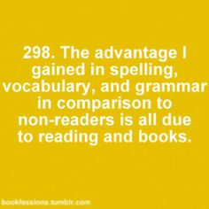 People who read are more educated :)