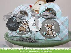 Nichol Spohr LLC: Handmade Holiday 2016 | Lawn Fawn Reindeer Tote Bags + GIVEAWAYS