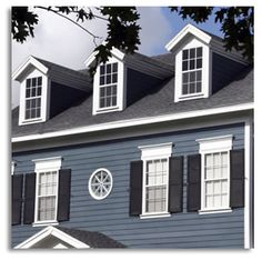 Exterior Paint Colors Blue paint color ideas for colonial revival houses | blue shutters