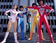 Tokusatsau, Sentai, Kaiju o tutto insieme? Kids Tv Shows, Movies And Tv Shows, Nagasaki, Hiroshima, Combattler V, Punisher Cosplay, Superhero Tv Series, Japanese Superheroes, Hero World