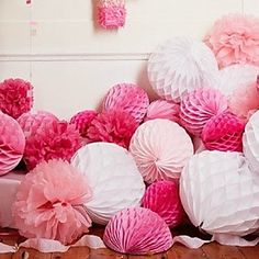 4 pcs 6 Inch (15cm)  Honeycomb Tissue Paper Flower Ball for Wedding Party Decoration(More Colors) – USD $ 3.99