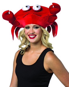 508febbd #1527 Crab Hat Velvet - Our bright red Crab Hat will catch the eyes of