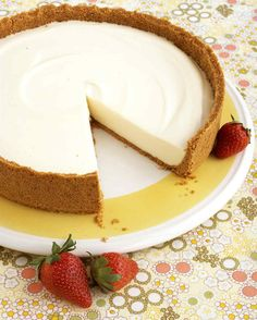 No-Bake Cheesecake | Martha Stewart Living - Need an easy dessert? Kids can come to the rescue, making a delicious dessert for the whole family without ever having to ask their parents to turn on the oven.