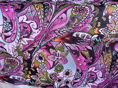 multi color print pure silk chiffon fabric abstract naive art