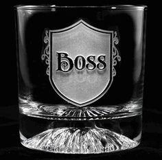 Boss Gift Engraved Whiskey Glass
