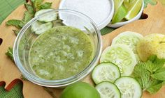 DIY Cucumber Foot Mask: 2 whole cucumbers (one per foot), 2 tablespoons lemon juice, 2 tablespoon olive oil