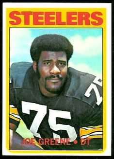 Mean Joe Greene Steelers All Decade Team Hall Of Fame 1972 Topps Card 230 Nfl Football Players, Pittsburgh Steelers Football, Pittsburgh Sports, College Football, Football Trading Cards, Football Cards, Joe Greene, Football Conference, Steeler Nation