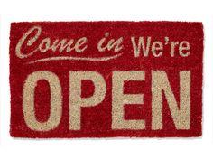 Up for entertaining? Let your doormat speak for itself! #decor