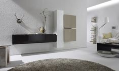 Living Room Wall Units, Living Room Furniture, Home Furniture, Floating Wall Unit, Etagere Design, Spacious Living Room, Furniture Inspiration, Game Room, Decoration
