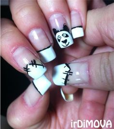 "<p>Via <a href=""http://nailartgallery.nailsmag.com/irdimova/photo/352232/panda-french-manicure"">Nail Art Gallery</a>.</p>"