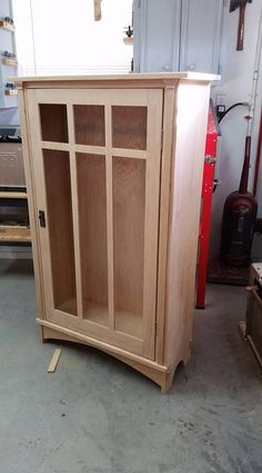 """""""Craftsman bookcase from quartersawn oak. Full size and 1/3 scale to use up the scrap material."""" - Mike D. via Facebook"""