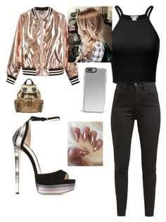 """""""Untitled #31"""" by abbiemiller-1 on Polyvore featuring Jimmy Choo, Levi's, Sans Souci and Burberry"""